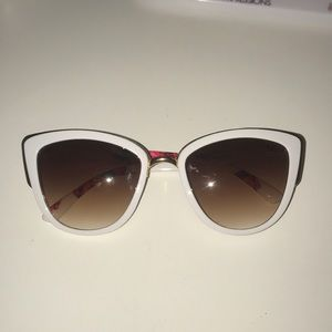 White and gold sunglasses